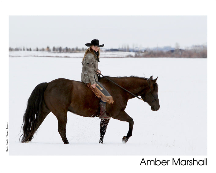 Autographed Photo: Amber & Hawk in the Snow