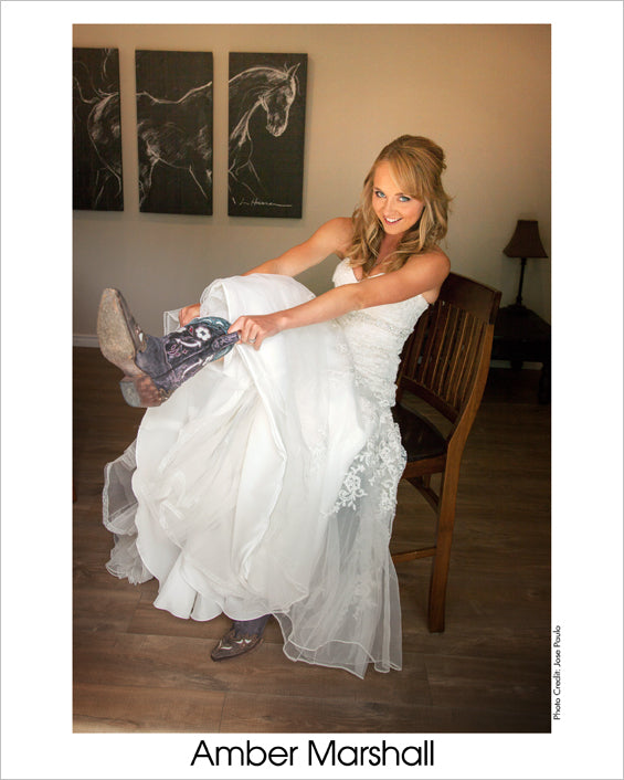 Autographed Photo: Amber's Wedding Day