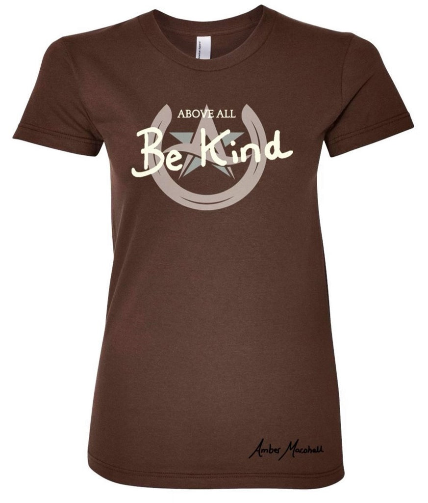 Above All Collection - BE KIND Star & Horseshoe Logo Ladies T-Shirt
