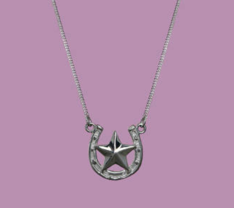 Bright Star & Horseshoe Necklace