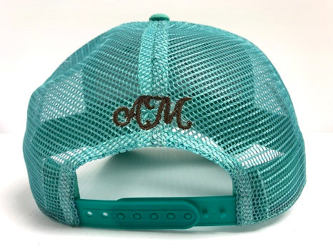 NEW! Limited Edition Turquoise Ball Cap with Patch Detail