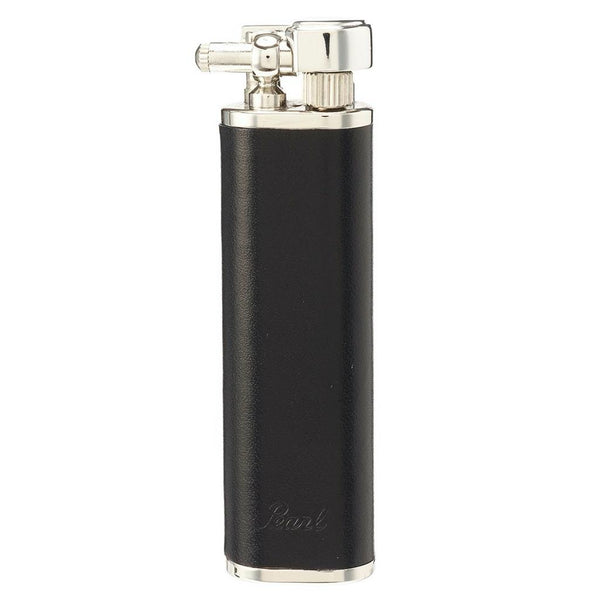 Tsubota Pearl - Quest Ex-Long Gas Lighter, Black Leather