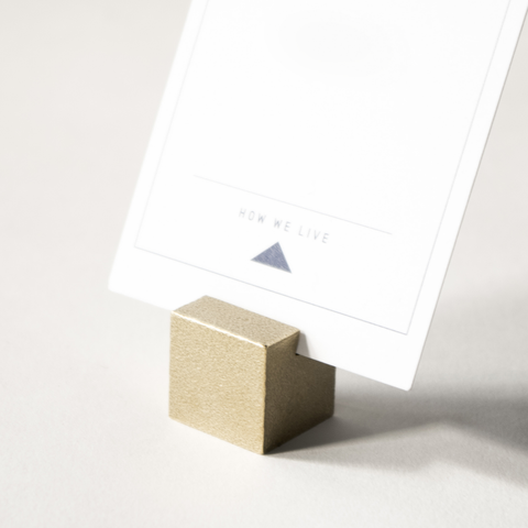 Brass Cube Card Holder