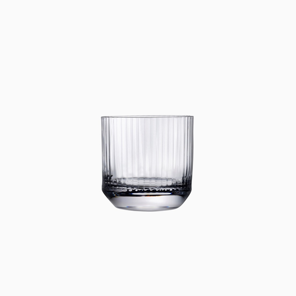 Reeded Lowball Glasses, wide (set of 4)