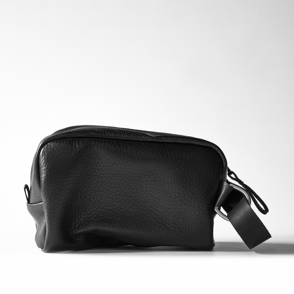Nocturnal Workshop Full Leather Dopp Kit - Blk