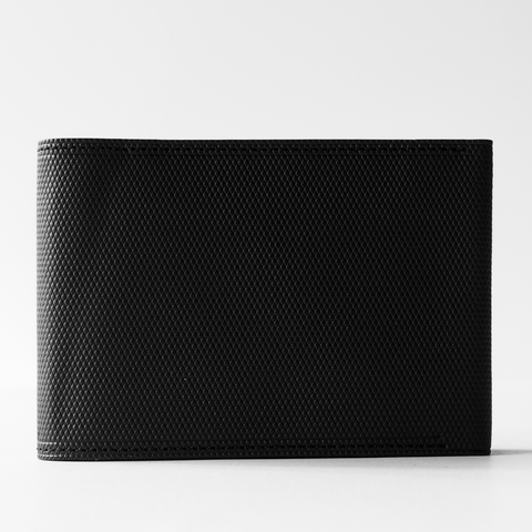 Postalco: Crossgrain Leather Billfold Wallet - Black