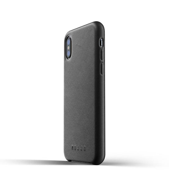 Mujjo - Full Leather Case for iPhone X/XS, Blk