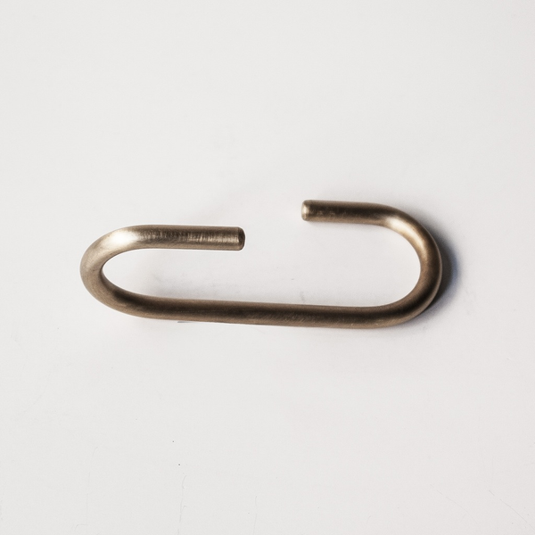 Brass S-Hook 90 Degrees