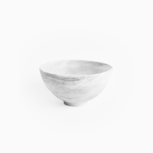 Chica Bowl in White Marble