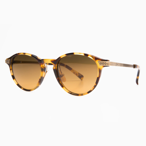 Dutil Sunglasses - Nathan 07 Tokyo Tortoise & Antique Gold / Polarized Cacao Gradient