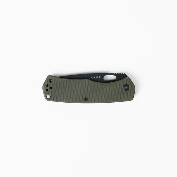 James Brand- The Folsom: OD Green / Black / G10 / Straight knife