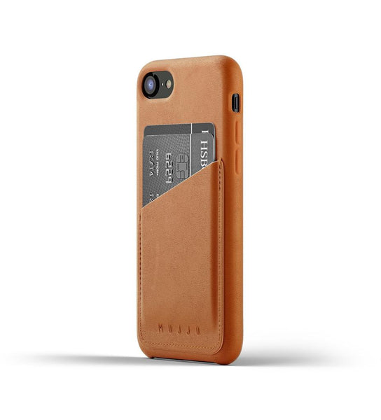 Mujjo - Full Leather Wallet Case for iPhone 7/8, Tan
