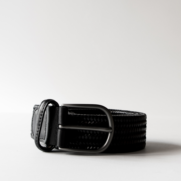 Italian Woven Leather Belt