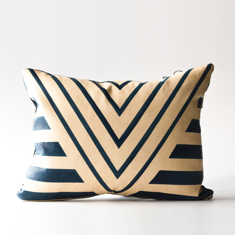 "Avoavo Blue Geometric Pillow - 12""x16"""