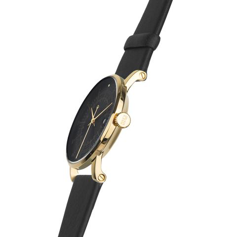 Squarestreet Watches - Plano Series (Gold/Black/Black)