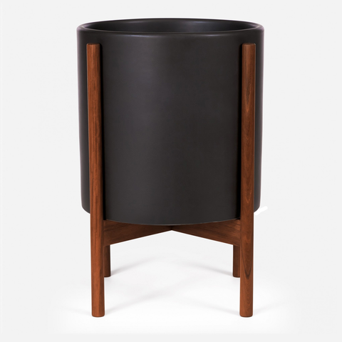 Case Study - XL Cylinder Black w/ Wood Stand