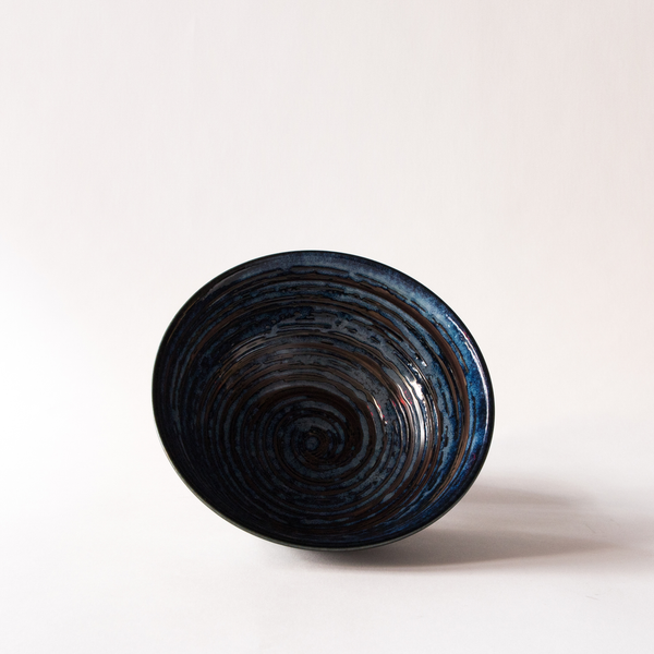 "Blue/Black Swirl - 8.25"" Bowl"