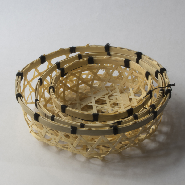 Woven Wood Basket - Natural (set of 3)