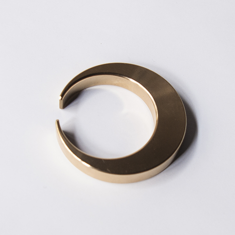 Crescent Moon Brass Bottle Opener by Futagami