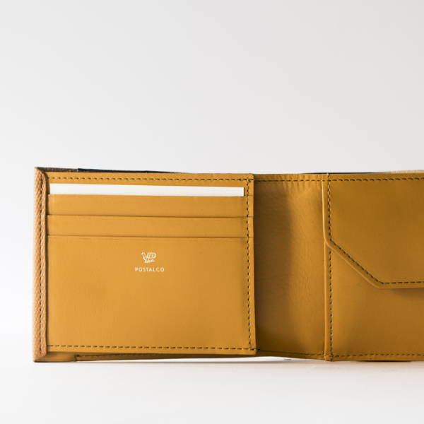 Postalco: Crossgrain Leather Billfold Wallet - Brown
