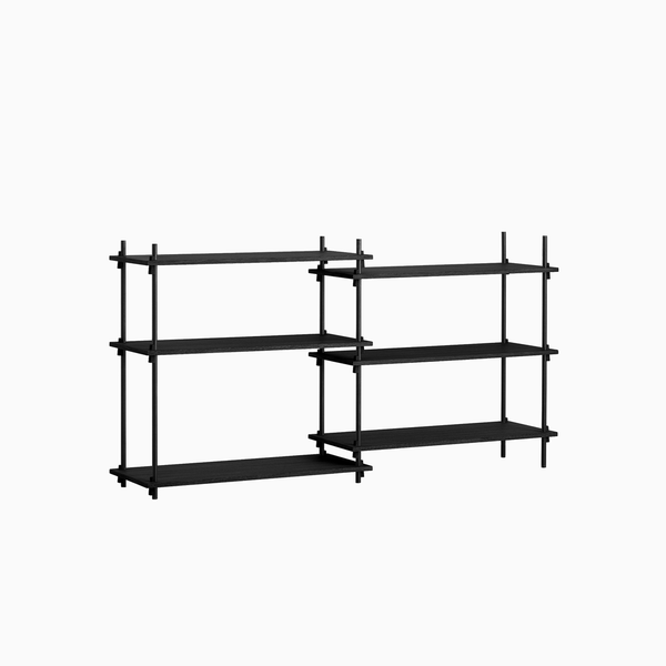 Moebe- Shelving System- Low Double Bay/Black