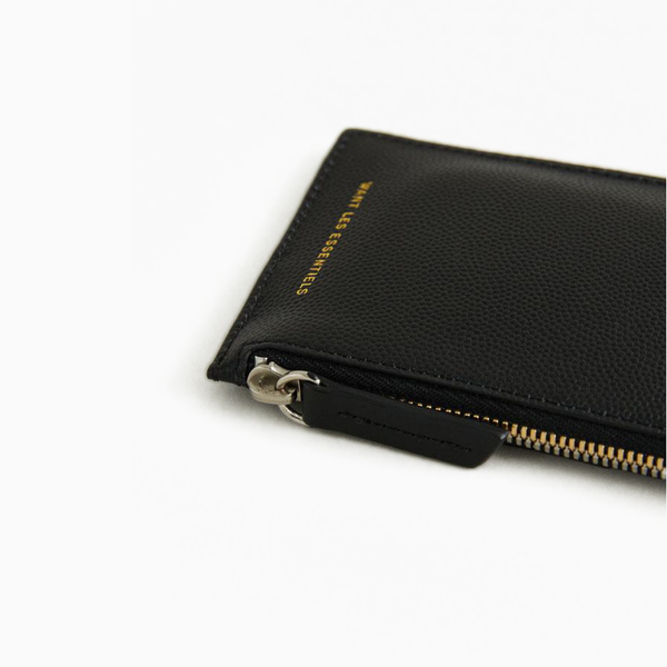 WANT les Essentiels - Adano zipped cardholder, black caviar