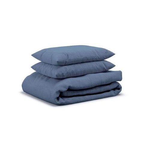 Flax Sleep King Duvet Set (Marine)
