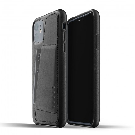 Mujjo Leather Wallet Case iPhone 11 (Black)