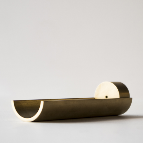 Cinnamon Projects: CIRCA SOLID BRASS INCENSE BURNER