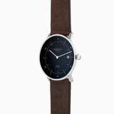 Sternglas NAOS Watch - Black/Brown Leather