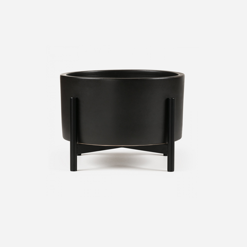 Case Study - Table Top Cylinder Black w/ Metal Stand