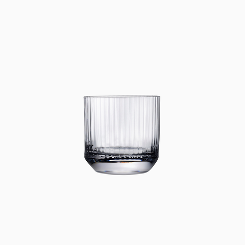 High Top Reeded Lowball Glasses (set of 4)