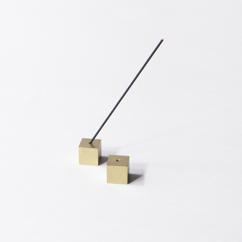 Brass Cube Incense Holder
