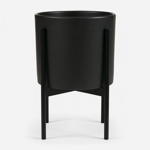 Case Study - Small Cylinder Black w/ Metal Stand