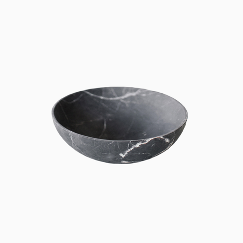 Ming Grande Bowl in Black Marble  Ming Grande Bowl in Black Marble