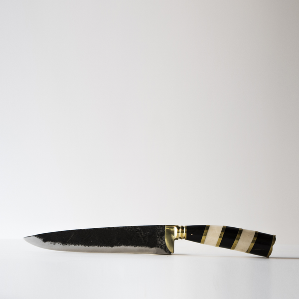 Max Poglia: Regal Knife - brass, black, white