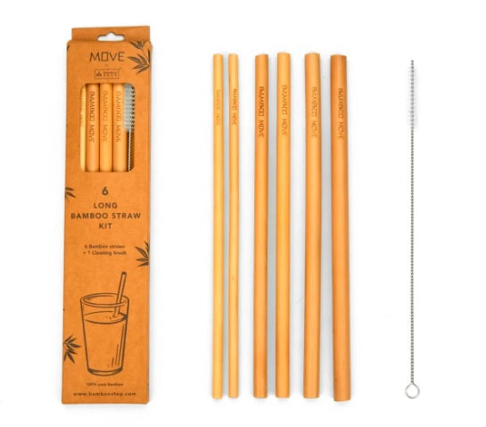 $12.95 | 6 pack Long Straw Kit