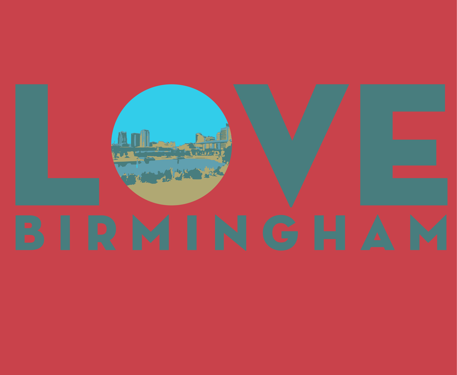 100% Organic Cotton Love BHAM T-Shirt