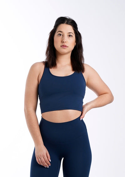 Covery Sports Bra - Oxford Blue - ALOWA APPAREL