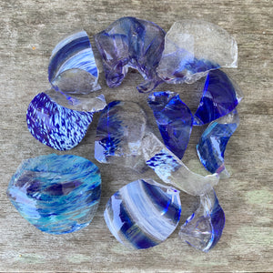 Glass Chips Dark Blue (4 oz)