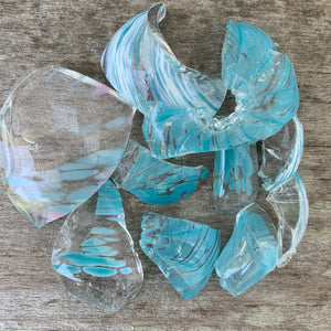 Glass Chips Light Blue (4 oz)