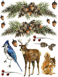 Woodland Christmas Decor Transfer Set - Available October 6th