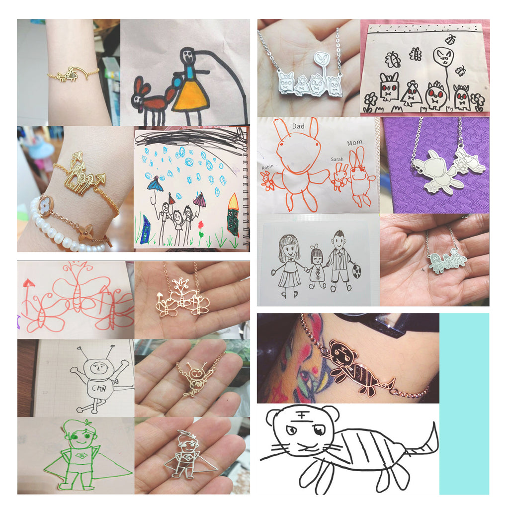 Hand Drawing Necklace/Bracelet