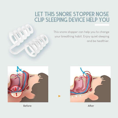 Anti Snore Nose Clip - 4pcs