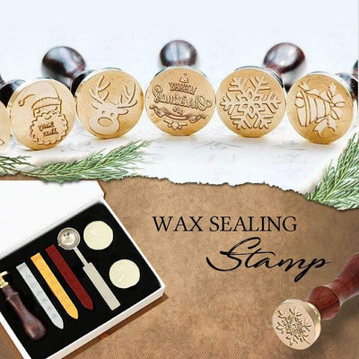 Wax Seal Stamp Set (Floral Alphabet Version)