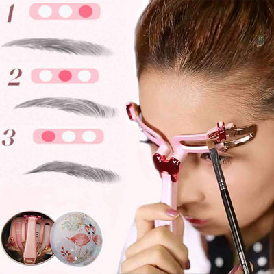 3 IN 1 Adjustable Eyebrow Shapes Stencil