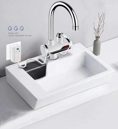 Electric Instant Heating Hot Cold Dual-use Digital Display Temperature Faucet