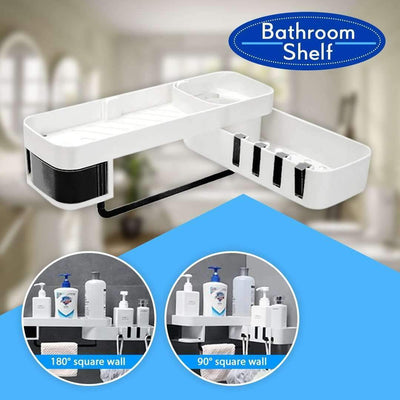 Rotatable Bathroom Storage Shelf