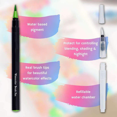 Beautiful Watercolor Brush Pens