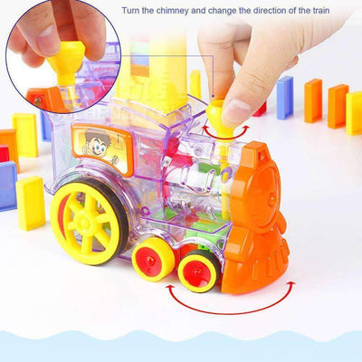 Hot Sale🔥Automatic Domino Laying Toy Train